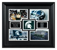 Michigan State Spartans 4 Photo Framed Collage