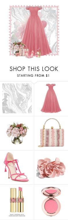 """""""Let's Play Dress Up"""" by berry1975 ❤ liked on Polyvore featuring Alexander McQueen, Frances Valentine, Yves Saint Laurent, Pink and Gowns"""