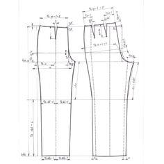 Výsledek obrázku pro konstrukce střihu kalhot