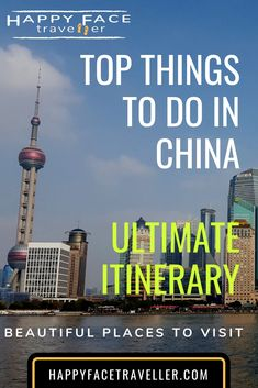 Top things to do in China, Ultimate itinerary