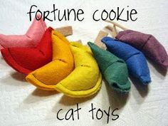 diy fortune cookie cat toy tutorial