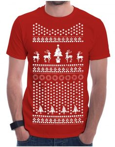 Christmas: Christmas Pattern - buy yours now at www.firetrend.co.uk. #christmas #xmas #christmastree #christmaspattern #firetrend #snowflakes #christmastshirt Mens Christmas T Shirts, Christmas Jumpers, Christmas Christmas, Christmas Sweaters, Xmas, Jumper Designs, College Fashion, Snowflakes, Hoodies