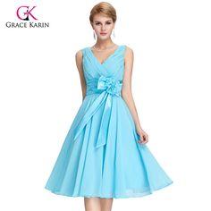 2017 Brand  Backless  Evening Dresses //Price: $60.68 & FREE Shipping //http://likeadiamondworld.com/evening-dresses-grace-karin-sashes-mother-of-the-bride-dress-2017-backless-women-short-formal-dresses-robe-de-soiree/