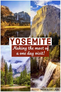 If you are dreaming of Yosemite, but are short on time, we can help! With only one day in Yosemite, you can have a great trip! Our Yosemite Day Trip Planner has everything you need to make visiting Yosemite for one day perfect, including a one day Yosemite itinerary for every entrance to the park. No matter which direction you come from, there is a Yosemite one day itinerary that will work for you! #yosemite #california #nationalparks #californiatravel #usatravel #californianationalparksYo