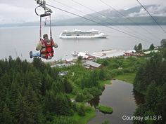 ZipRider® at Icy Strait Point, Alaska - the biggest vertical drop on the planet - only accessible by boat or plane!