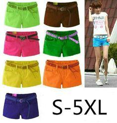 5XL Summer 2015 Denim Shorts Slim Candy Color Pantalones Cortos Mujer Plus Size Denim Shorts Jeans Women C94 - http://www.freshinstyle.com/products/5xl-summer-2015-denim-shorts-slim-candy-color-pantalones-cortos-mujer-plus-size-denim-shorts-jeans-women-c94/