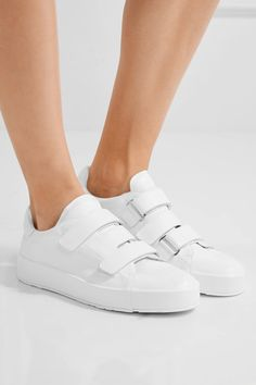 $550 Rubber sole measures approximately 30mm/ 1 inch White leather Velcro®-fastening straps Made in Italy