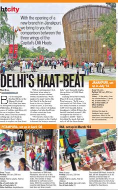 """Dilli Haat Janak Puri designed by Sourabh Gupta gets featured in HTCity, 31st July 2014.  """"We tried to stick to the theme of music as the capital is known for being a musical hub"""", says Sourabh Gupta, architect of Dilli Haat Janakpuri."""