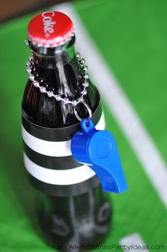 Football referee Coca-Cola drinks! Via Kara's Party Ideas | KarasPartyIdeas.com #HomeBowlHeroContest 4