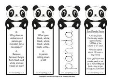 Panda party ideas, book marks, games