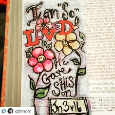 More and more lovely people are joining #30daysofGodsLove Thank you #illustratedfaith#biblejournaling#journalingbible #bibleart #Repost @qltrmom ・・・ My first day, yesterday...in #30daysofgodslove