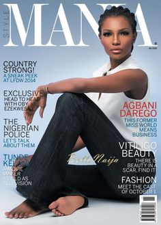 Effortless Beauty! Agbani Darego Covers the November 2014 Issue of Style Mania Magazine