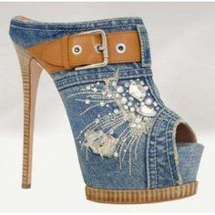 Blue Denim Shoes
