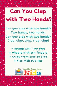 A weekly storytime must! We use this rhyme to practice movement before and after music. A parent and child favorite! A weekly storytime must! We use this rhyme to practice movement before and after music. A parent and child favorite! Movement Preschool, Movement Activities, Music Activities, Kindergarten Songs, Preschool Music, Preschool Fingerplays, Preschool Bulletin, Preschool Ideas, Nursery Songs