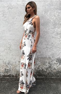 Turn heads in this sleek and sexy floral dress! Made from premium cotton blend material. Free Worldwide Shipping & Money-Back Guarantee SIZE US BUST WAIST HIP S M L XL Note: Sizes are in inches. Boho Floral Dress, White Floral Dress, White Maxi Dresses, Mob Dresses, Sexy Dresses, Maxi Dress With Sleeves, The Dress, Stylish Outfits, Fashion Outfits