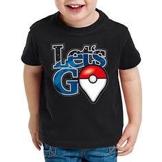A.N.T. Let's Go Poké Ball Camiseta para Niños T-Shirt monstruos videojuego, Talla:164 #camiseta #friki #moda #regalo