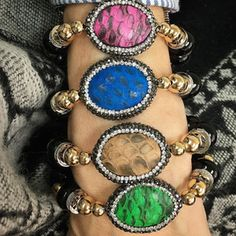 Bracelets By Vila Veloni Reptile Stone Zirconia
