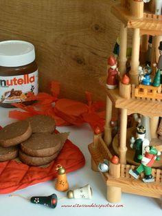 ¿A qué niño no le gusta la nutella? Estas Navidades en vez de hacer los polvorones de chocolate tradicionales me dio por hacerlos de nutell...