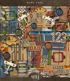 Dad's Rule Dad Rocks, Fathers Day, Thats Not My, Dads, In This Moment, Kit, Holiday, Shabby, Scrapbooking