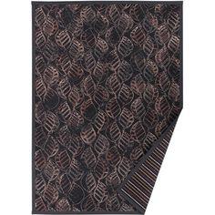 Antracitovosivý vzorovaný obojstranný koberec Narma Niidu, 140x200cm