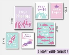 Nursery Decor, Wall Art Prints and Personalised Gifts by InspiredFlamingo Baby Girl Nursery Decor, Nursery Wall Decor, Bedroom Decor, Bedroom Ideas, Gifts For New Mums, Princess Nursery, Kids Decor, Decor Ideas, Personalised Prints