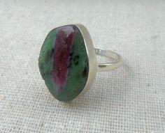 RUBY ZOISITE Gemstone Ring Solid 925 by CherylsStixAndStonz, $23.00