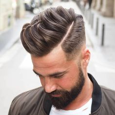 Low fade, disconnected side part