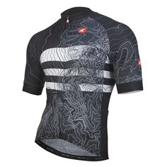All-Day Cycling Jersey for Men - Topo Bands Design - Pactimo