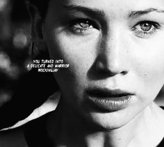 Katniss - Catching Fire. ok..i love this scene and jen just recreated the picture in my mind when i was reading of when Cinna was beaten. just from that scene in the trailer it just genuinely looked like she had just seen him be beaten. i mean hands down, my favorite actress.  LOVE YOU JLAW