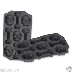 1 PIRATE Halloween Party Supply ICE Cube TRAY or JELLO MOLD SKULL  BONES ** Visit the image link more details.