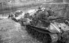 TANKS OF THE USSR - IRON FIST. Russians fording a river