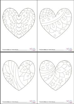 All 8 of our doodle heart colouring pages are included in this one pdf. Why not colour them as a group activity, but them out and put them out on display afterwards? Or be greedy and keep them all to yourself. Heart Coloring Pages, Fall Coloring Pages, Adult Coloring Pages, Coloring Books, Valentines Day Coloring Page, Valentines Art, Party Doodle, Art Therapy Projects, Drawing Activities