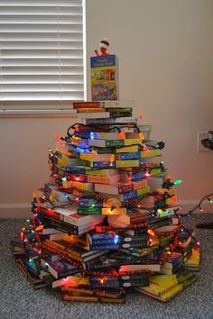 Mystery Playground: How to Make a Book Tree