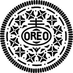 Vector Representation of Embossed Oreo Face by Robbgodshaw #Oreo #Oreo_Face #Illustration #Robbgodshaw