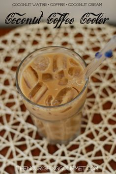 This refreshing and hydrating coffee drink is a lovely combination of coffee, coconut water, and coconut cream. Perfect for summertime (or anytime!)---- The Nourishing Gourmet