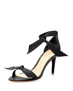 ALEXANDRE BIRMAN Leather Bow-Tie D'Orsay Sandal, Black. #alexandrebirman #shoes #sandals