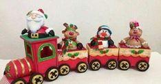 Christmas World, Christmas Clay, Christmas Train, Plastic Canvas Christmas, Christmas Sewing, Christmas Projects, Christmas Ornaments, Xmas Decorations, Kids Playing
