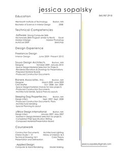 resume i kind of like leaving room in the right margin for the interior design
