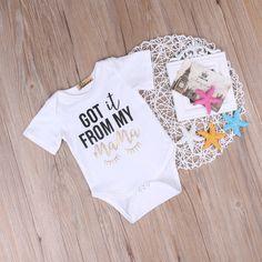 Newborn Baby Bodysuit Cotton Short Sleeve Bodysuit Infant Boy Girl Jumpsuit Kids Clothes Outfit. Click visit to buy