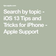 Search by topic - iOS 13 Tips and Tricks for iPhone - Apple Support Abc News Live, Apple Support, Getting To Know, Phonics, Armchair Bed, Ios, Iphone, Learning, Depression