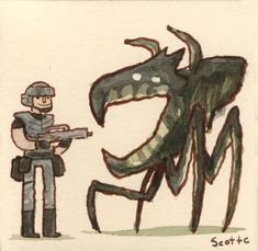 """Starship Troopers (1997)    """"Young people from all over the globe are joining up to fight for the future.""""    Art by Scott Lava http://greatshowdowns.com/post/6793616354"""