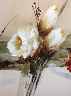 Oil Painting Flowers, Abstract Flowers, Fabric Painting, Colorful Flowers, Abstract Art, Flowers Gif, Framed Wall Art, Flower Art, Design Art