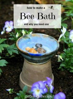butterfly garden Creating A Bee-Friendly Garden Means More Than Just Planting Flowers. You Certainly Want To Attract Them With Gorgeous Blooms, But While They Are In Your Garden You Will Want To Give Them A Place To Drink: A Bee Bath. Garden Crafts, Garden Projects, Garden Art, Garden Design, Herb Garden, Garden Trellis, Garden Shrubs, Garden Pond, Garden Tools