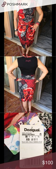 Selling this Red Desigual Dress on Poshmark! My username is: tantounk. #shopmycloset #poshmark #fashion #shopping #style #forsale #Desigual #Dresses & Skirts