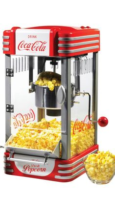 There's nothing more American than a Coca-Cola themed popcorn maker.