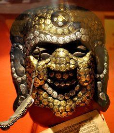 Ritual mask, Mustang province, Nepal Mustang Nepal, Masks, Face Masks