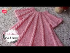Baby Cardigan Knitting Pattern, Baby Knitting Patterns, Baby Patterns, Knit Baby Dress, Lace Bikini, Crochet Videos, Knitting For Kids, Crochet Braids, Kids Outfits