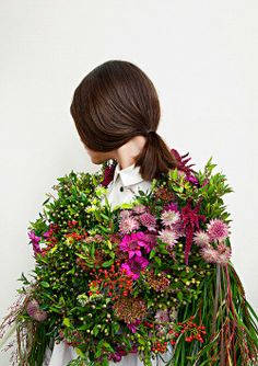 A flower cape. Photographed by Laetitia Bica for A.Knackfuss