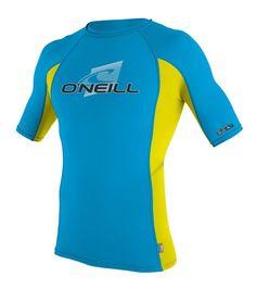 Oneill Skins SS Crew Sky / LW / Sky Lycra Rashguard UV Sun Protection