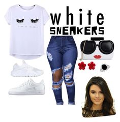 """white sneaker contest"" by mone-suarezsmith ❤ liked on Polyvore featuring Chicnova Fashion, NIKE, Alice + Olivia and Chanel"